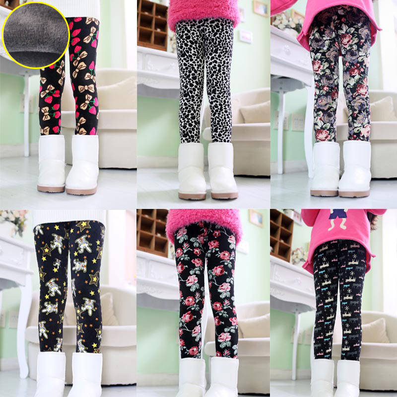 Baby gilrs leggings winter Children warm leggings for girls Baby girl winter trousers kids gilrs winter