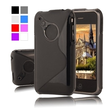 Buy S LINE Silicone Gel TPU Soft Case apple iphone 3 3G 3GS Plastic Rubber Matte Cover Phone Protective Cases for $1.45 in AliExpress store