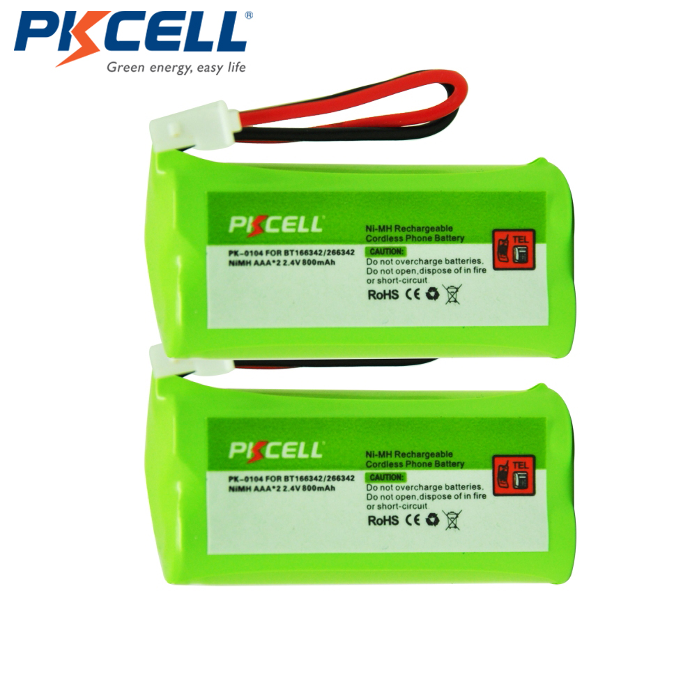 2 x 2.4V Ni-MH Battery Pack AAA 800mAh 2.4Volt NiMh Rechargeable Cordless Phone Battery for BT166342/266342 JST-HE (PK-0104)(China (Mainland))