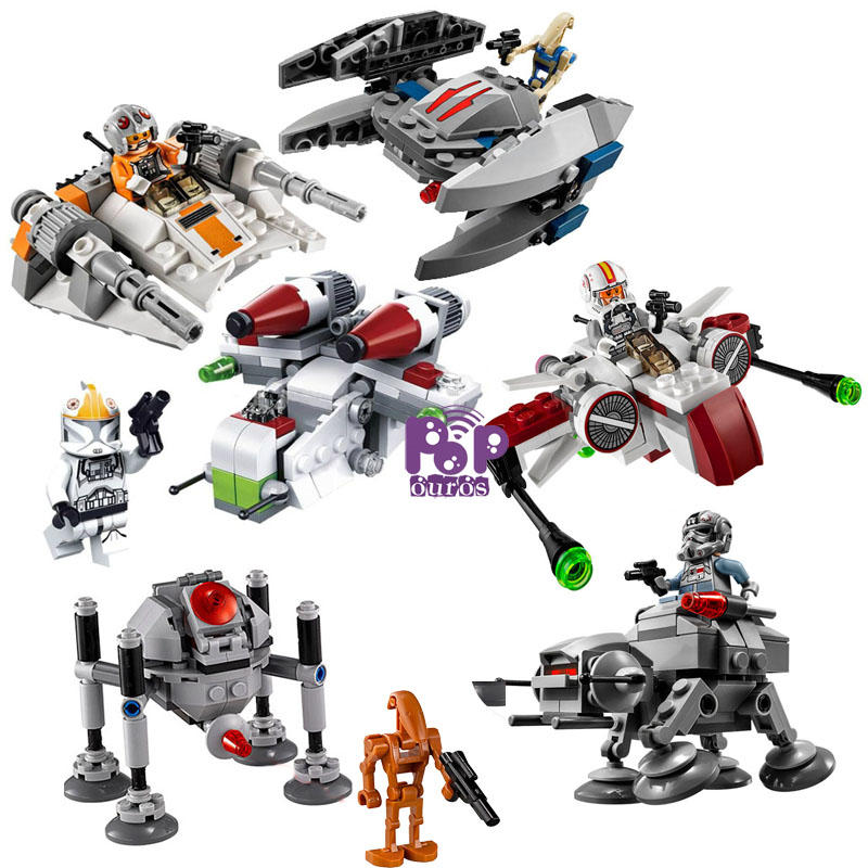 2016 New Arrival 3pcs lot Star Wars Space Wars Bricks ABS StarWars font b figures b