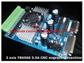 Free Shipping 3 axis TB6560 3 5A CNC engraving machine stepper motor driver board 16 segments