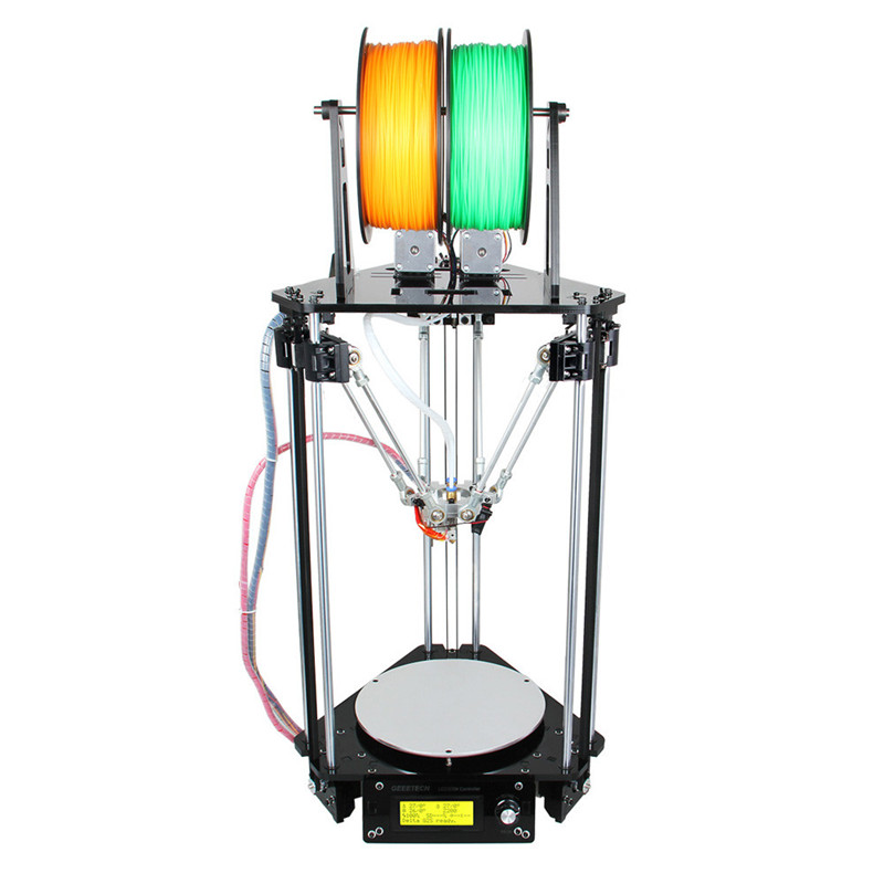 Geeetech Upgraded Dual Heads All Metal Delta Rostock Mini G2S Pro 3D Printer High Resolution Support Auto Level(China (Mainland))