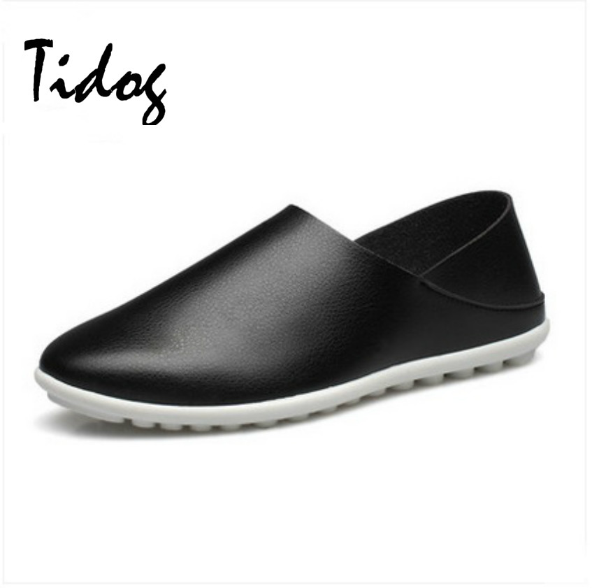 Tidog autumn polo men s casual shoes head sets foot pedal shoes slip on British driving