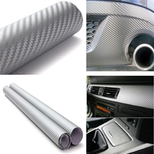 Car-styling 127cm x30cm 3D Carbon Fiber Vinyl Wrap Film Motorcycle Car Vehicle Stickers And Decals Sheet Roll Car Accessories(China (Mainland))
