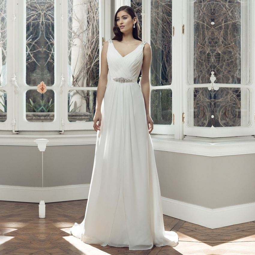 Vestido de novia 2015 cheap wedding dresses made in china for Cheap chiffon wedding dresses
