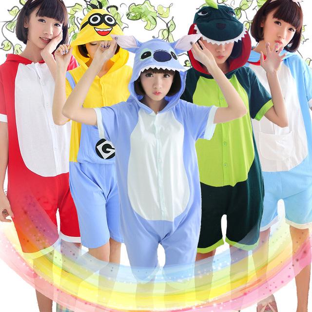 Лето тоторо панда взрослых унисекс один аниме с коротким рукавом хлопка с капюшоном ...