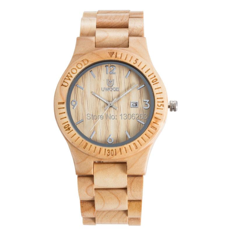 4 Имеющийся Цвет Uwood Наручные Часы Деревянные Водонепроницаемость Деревянные Наручные Часы Женщины Мужчины Вуд Наручные Часы Деревянные
