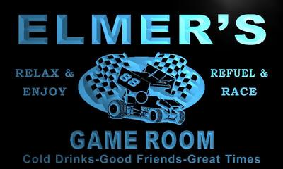 x0218-tm Elmer's Pit Stop Game Room Custom Personalized Name Neon Sign Wholesale Dropshipping(China (Mainland))