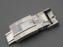 16mm x 9mm watch band buckle Deployment clasp Silver polished brushed High quality Stainless Steel for