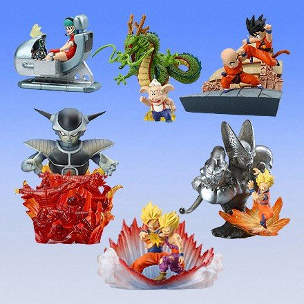 6pcs/lot Original mini Japanese classic anime figure Dragon ball HG scense PART1 action figure set collectible model toy for boy(China (Mainland))