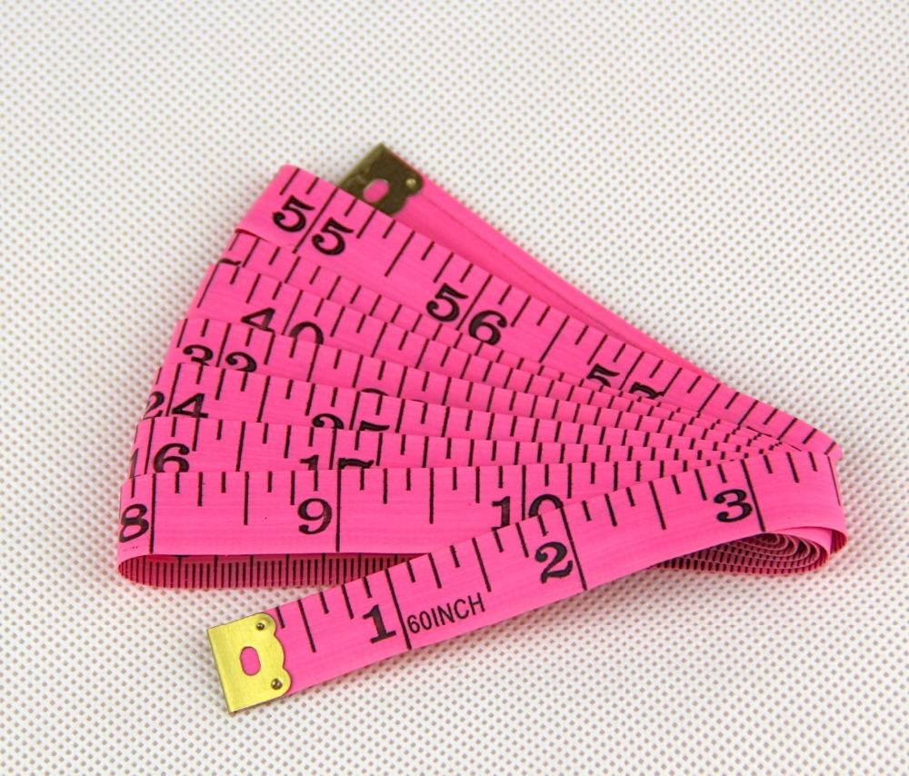 Sewing machine 1PCS pink PVC material Body measuring tape cloth sewing ruler gauge and Tailor of tape measure 60 inch &amp; 150cm<br><br>Aliexpress