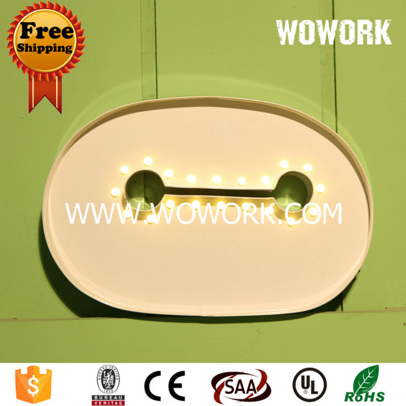 iron frame sign 9 inch holiday Lighting and Free Shipping(China (Mainland))