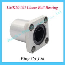LMK20UU LMK20 20mm flange linear ball bearing bushing for 3d printer linear shaft guide rail rod round shaft cnc parts