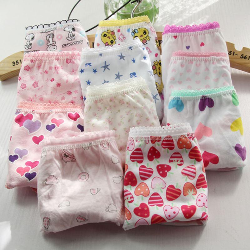 15pcs/lot pant children Girls cotton Underwear Briefs /Panties/ inner wears (2-12 years) ls underwear Free sipping