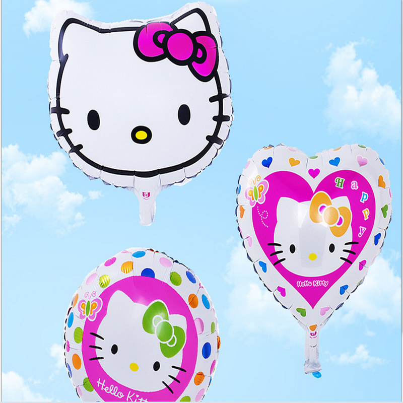 3pcs Birthday Party Decoration 18Inch Hello Kitty Foil Balloon Set Birthday Party Wedding Decoration Supplies Kids Classci Toy(China (Mainland))