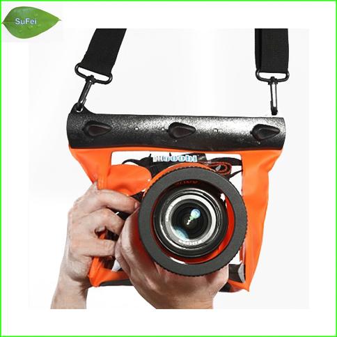 Free shipping PB05-B Newest digital Single lens reflex camera waterproof bag of lens height 14cm within 20m water(China (Mainland))