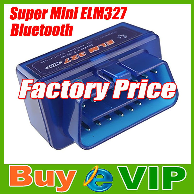 Super mini ELM327 Bluetooth odb2 Scanner ELM 327 V2.1 Smart Car Diagnostic tool free shipping(China (Mainland))
