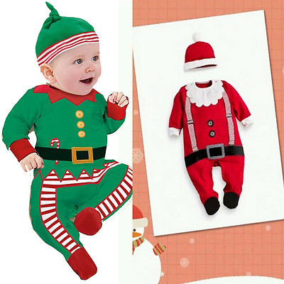 Hot retail wholesale 2015 winter children clothing sets kids boys suits christmas cute romper hat bib 3pcs new year clothes(China (Mainland))