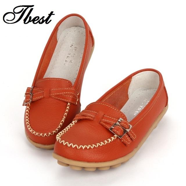 2016 обувь женщина из натуральной кожи женская обувь квартиры 8 цвета пряжка мокасины ...