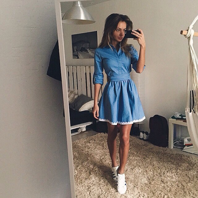 2015 New Fashion Womens Casual dress Summer and autumn Style dresses Blue solid mini Elegant club Lady plus size female lace(China (Mainland))