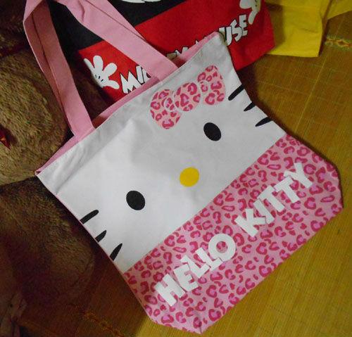 Sanrio Hello Kitty Pink shoulder bag,shopping bag wholesale,free shipping B219KT01(China (Mainland))