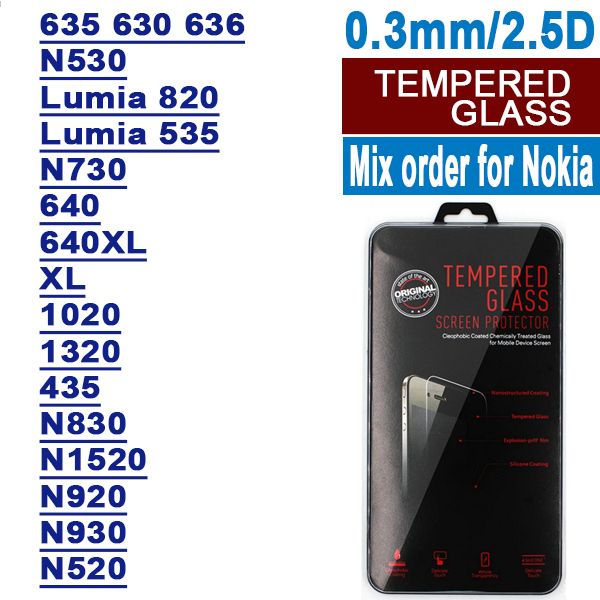Здесь можно купить  200PCS mixed order For Nokia tempered glass screen protector for Nokia Lumia 520/530/820/930/535/635/640/640XL/830/1520/1320 200PCS mixed order For Nokia tempered glass screen protector for Nokia Lumia 520/530/820/930/535/635/640/640XL/830/1520/1320 Телефоны и Телекоммуникации