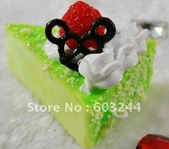 FreeShip 20 Piece Mixed Cartoon Fruit Cake Sweets Cake Squishy Phone Charm Strap Mobile Pendant Chirstmas Gift