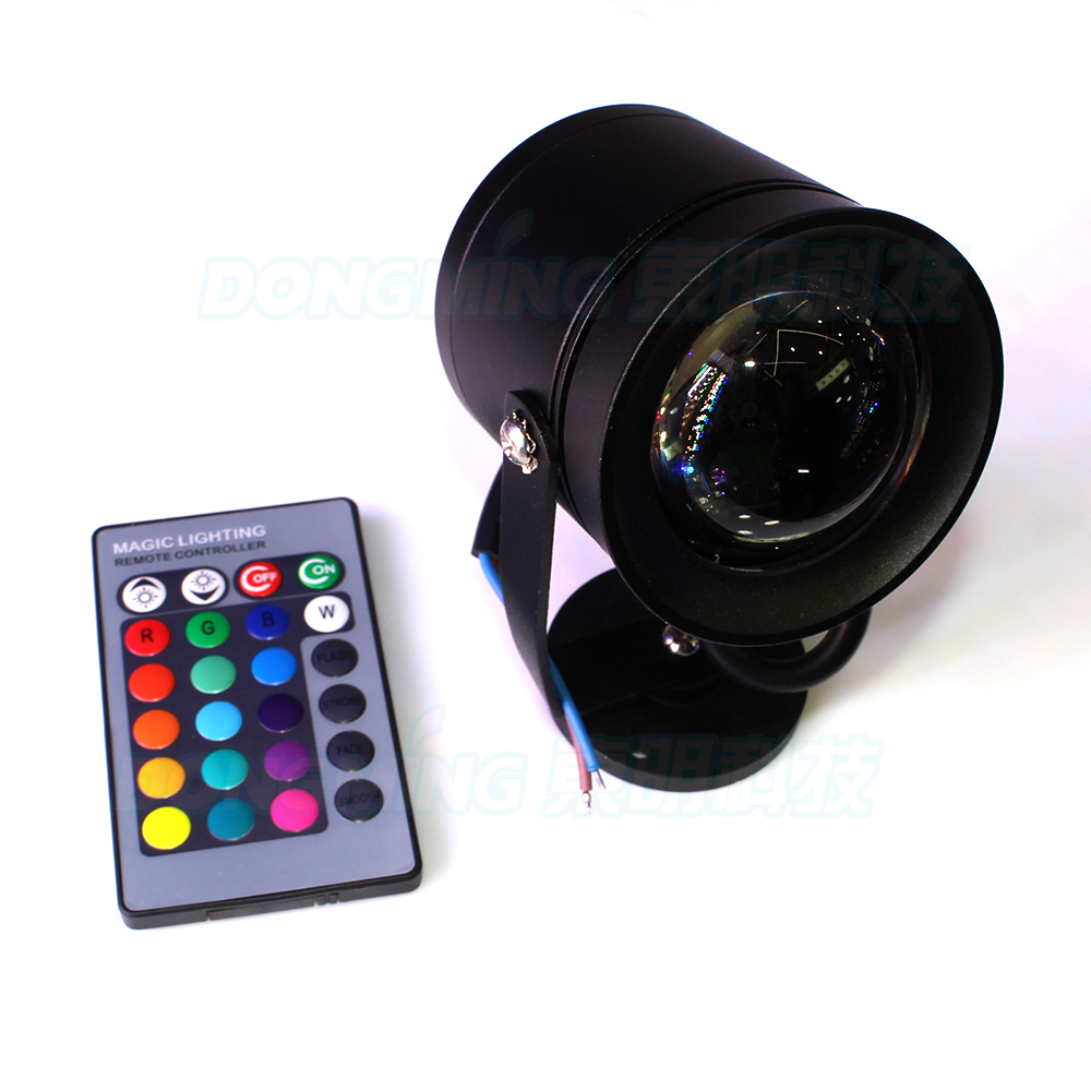 Black cover underwater led light rgb dc 12v 10w pool for Dc motor light led