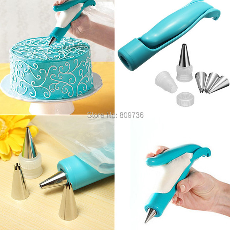New Hot 1 Set of Pastry Icing Piping Bag Nozzle Tips Fondant Cake Craft Decorating Tool Kitchen Drop Free(China (Mainland))