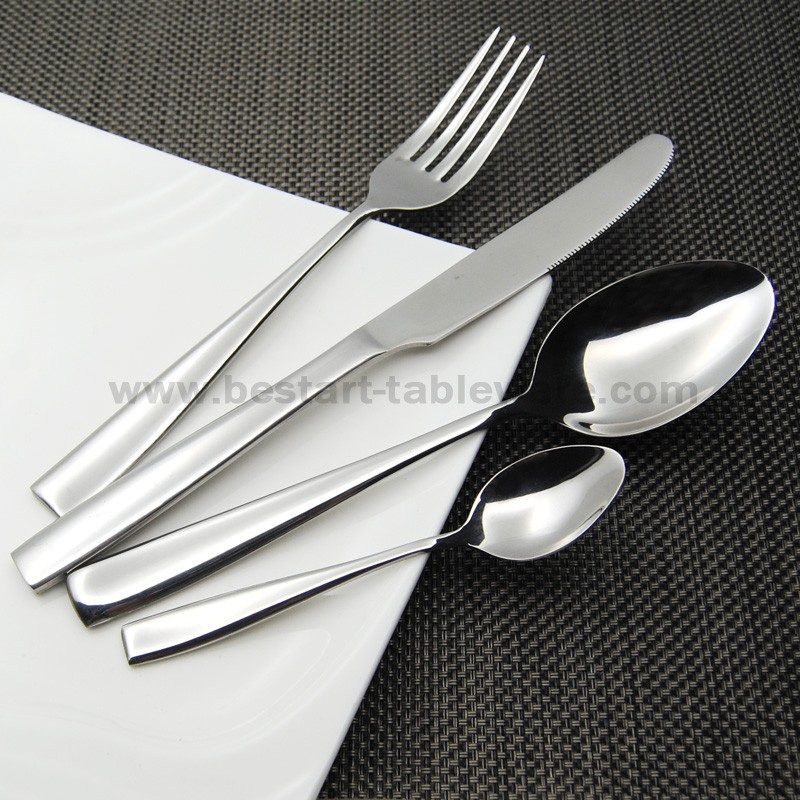 Buy Eco-friendly 18/0 stainless steel dinnerware set 20pcs mirror plish flatware set for 5 peoples cheap