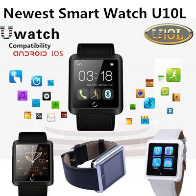 Newest smart electronics watch Uwatch U10L Bluetooth intelligent waterproof watch sport smartwatch for Android /IOS smart phones
