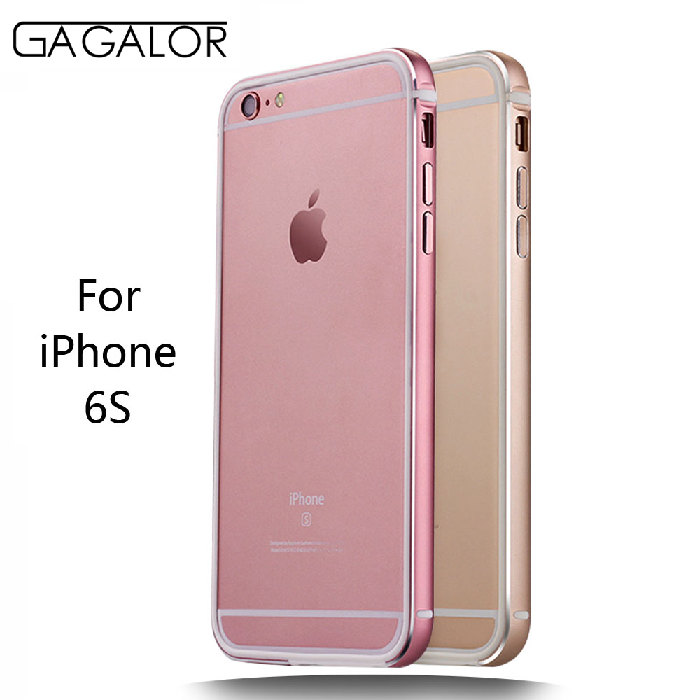 GAGALOR Metal Truncation Design to Reduce the loss of Signal Phone Frame Bumper Metal Silicon to Protect Phone for iPhone 6S(China (Mainland))