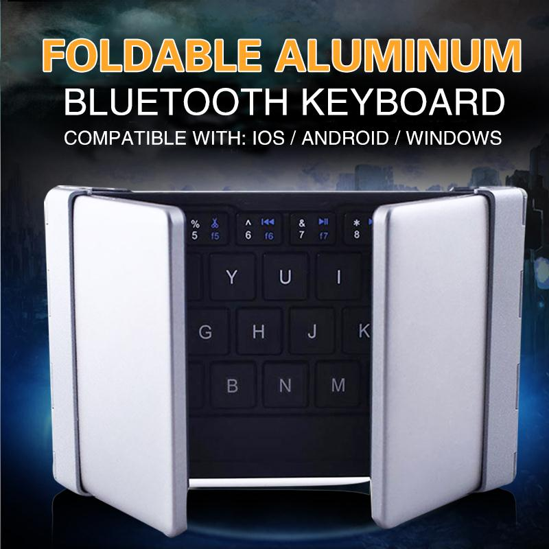 Intelligent Pocket Folding Keyboard Bluetooth 3.0 Foldable Aluminum Universal Wireless Travel Keypad For Iphone Ipad PC Tablet(China (Mainland))