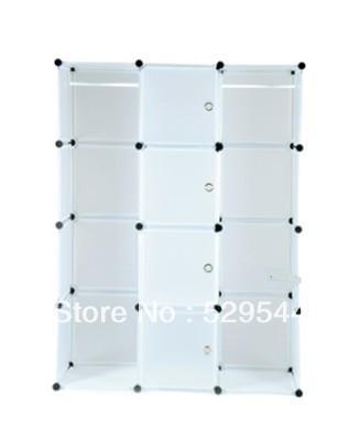 On Sale DIY Wardrobe simple wardrobe combination folding wardrobe steelframe Reinforce the folding closet