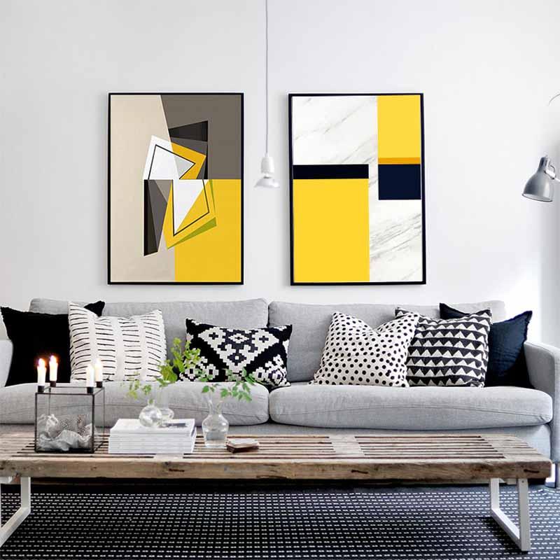 Home Office Decor For Private Impression: Géométrique Toile Art Promotion-Achetez Des Géométrique