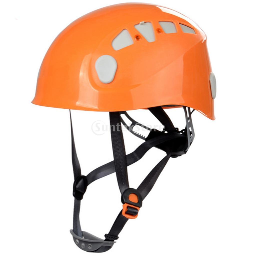 Mountaineer Helmet Outdoor Safety Climbing Rappelling Protector Orange(China (Mainland))