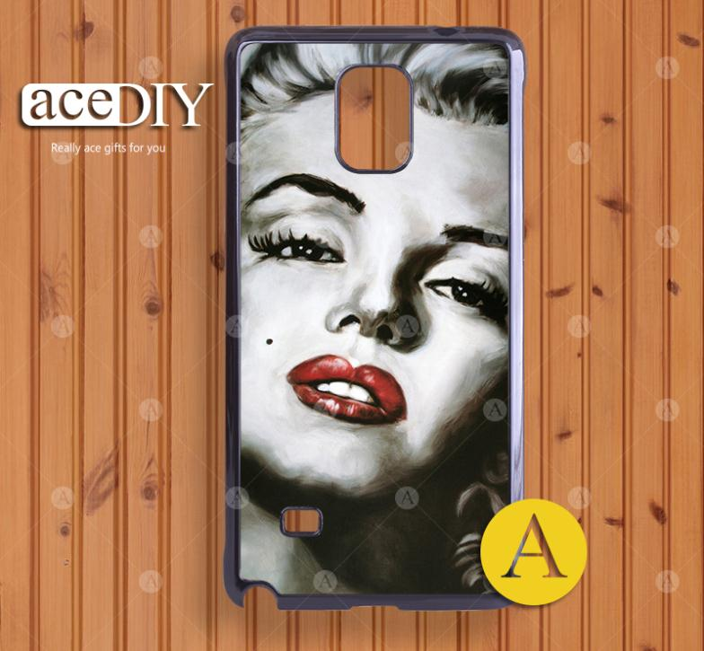 Surprise! A beautiful face Painted hard case cover for samsung Galaxy Note 4 Wholesale and retail-A50026(China (Mainland))