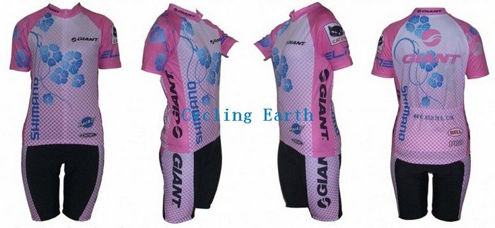 Hot Sale!!! 2010 NEW GIANT women's short sleeve cycling wear clothes short sleeve bicycle/bike/riding jerseys+Z123(China (Mainland))