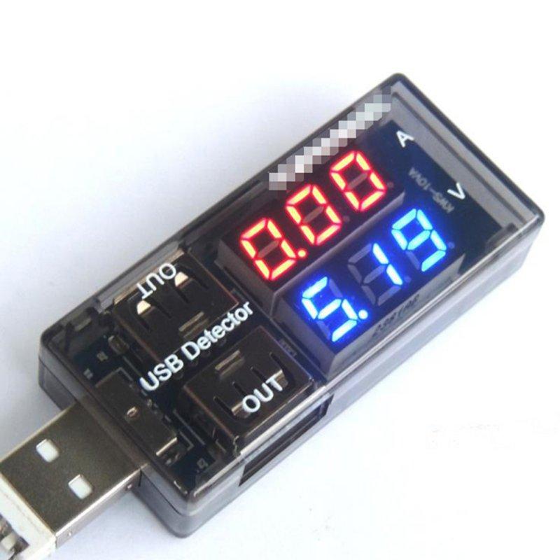 1X LED USB Current Voltage Charging Power Detector Tester Volt Meter Ammeter(China (Mainland))
