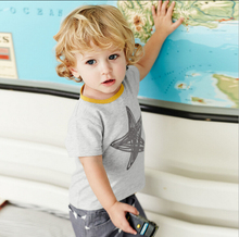 New Brand Baby Boys Clothing 100% Cotton Summer O-neck Toddler Kids Clothes Short Sleeve Print Star Tops Tee T-Shirt t shirt