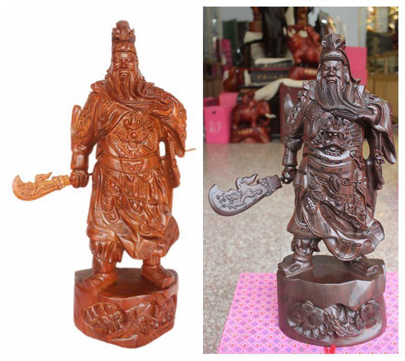 50/60 / 80CM grass pear wood carving Crosses shut off Erye document Fortuna ebony wood gift(China (Mainland))