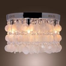 Brief IKEA Nordic Nature Shell Ceiling Lamp Dia 40cm DIY Art Decorative Ceiling Light Crystal Bedroom Lighting Fixture Lustre(China (Mainland))