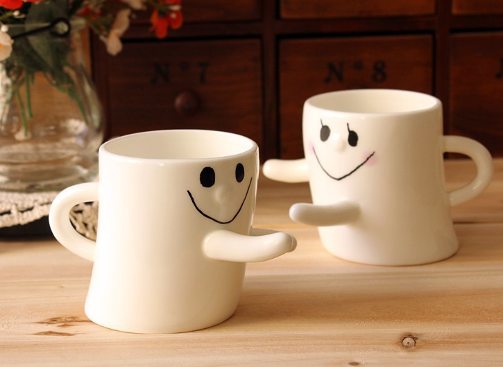 Free shipping! Hug me mug ! Lovers Cups, ceramic cups lovers, Embrace cups Best gift for girlfriend or wife! #X021(China (Mainland))