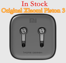 100% Original Xiaomi Piston 3 2 Hybrid Bass Earphones With Remote & Mic For Phone MI4 5 Hongmi Note Retail box Top Quality(China (Mainland))