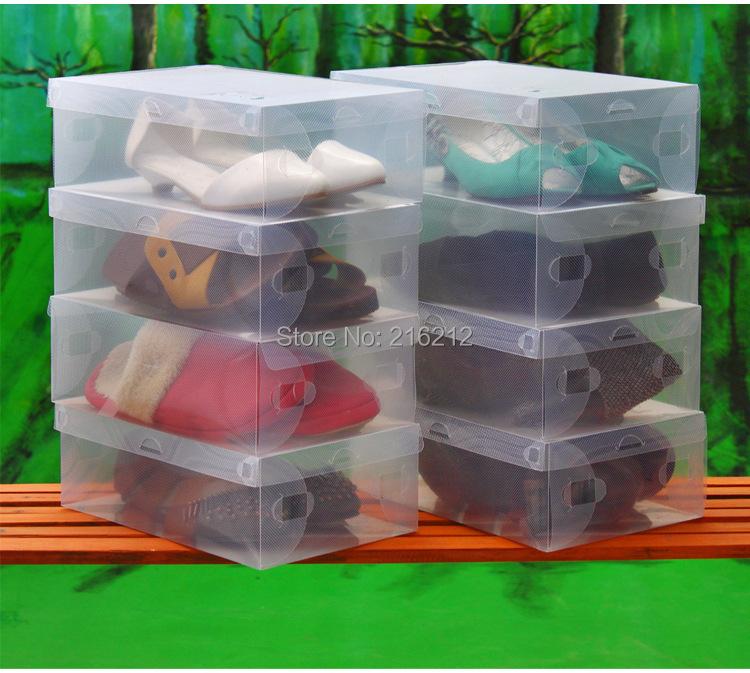 Household Men Transparent Clear Shoe Storage Organizer Box Shoes Case(China (Mainland))