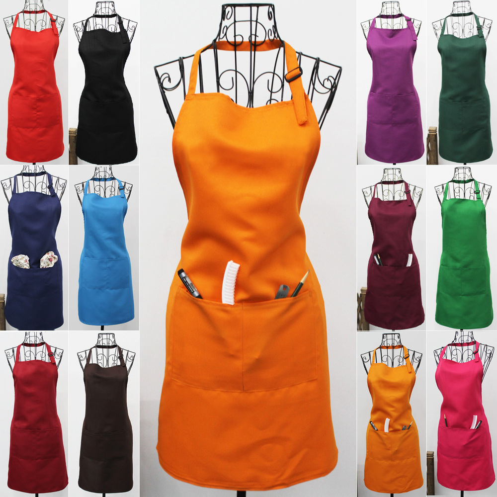 LOGO CAN BE PRINTED COLOR ASSORTED KITCHEN APRON WORKING APRON 20PCS LOT(China (Mainland))
