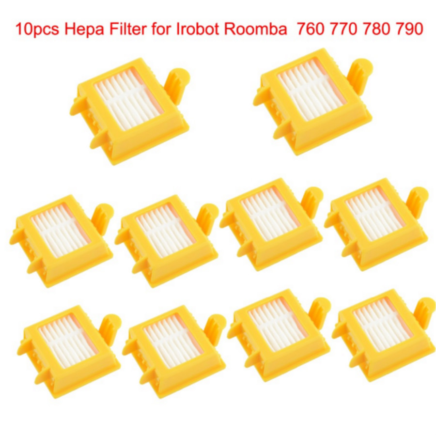 Free Shipping 10pcs Hepa Filter Clean Replacement Tool Kit Fit for iRobot Roomba 700 Series 760 770 780 790(China (Mainland))