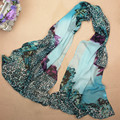 2015 New Arrival Leopard Print Scarves Winter Long Scarf Hijab Canada Beach Silk Shawls Womens Scarfs
