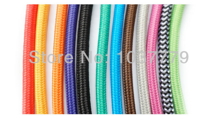 (12m/Lot) 2*0.75 Copper Cloth Covered Wire Vintage Style Edison Light Lamp Cord Grip Twisted Fabric Lighting Flex Electric Cable<br><br>Aliexpress