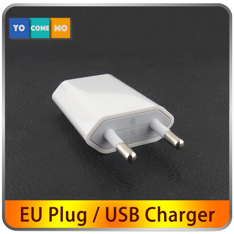 High Quality White European USB AC Travel Wall Power Adapter EU Plug Charging Charger Adapter For iPhone 5 5s 4 4s(China (Mainland))